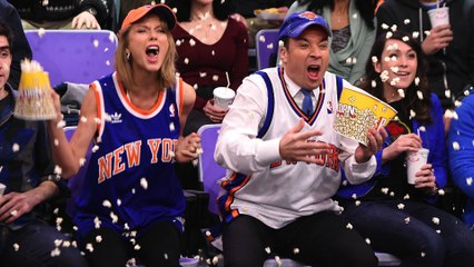 Taylor Swift and Jimmy Fallon Dance on JumboTron's at Sports Games