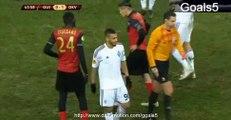 Younes Belhanda Red Card Guingamp 0 - 1 Dinamo Kiev Europa League 19-2-2015