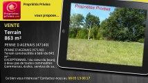 A vendre - terrain - PENNE D AGENAIS (47140) - 863m²