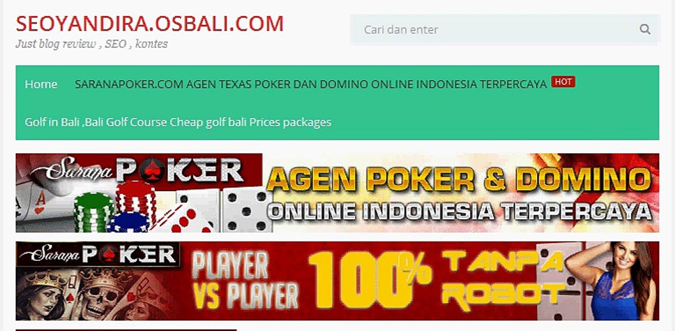 Saranapoker Com Agen Texas Poker Dan Domino Online Indonesia Terpercaya Video Dailymotion