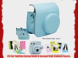 Fujifilm Instax Mini 8 Instant Camera Accessory Bundles Set (Included: Blue Mini 8 Vintage