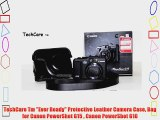 TechCare Tm Ever Ready Protective Leather Camera Case Bag for Canon PowerShot G15  Canon PowerShot