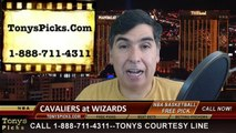 Washington Wizards vs. Cleveland Cavaliers Free Pick Prediction NBA Pro Basketball Odds Preview 2-20-2015