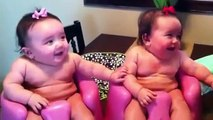 Funny Twin babies Laughing, Crying, and then Laughing again - 2015