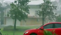 Footage from Cyclone Marcia Ripping Into House