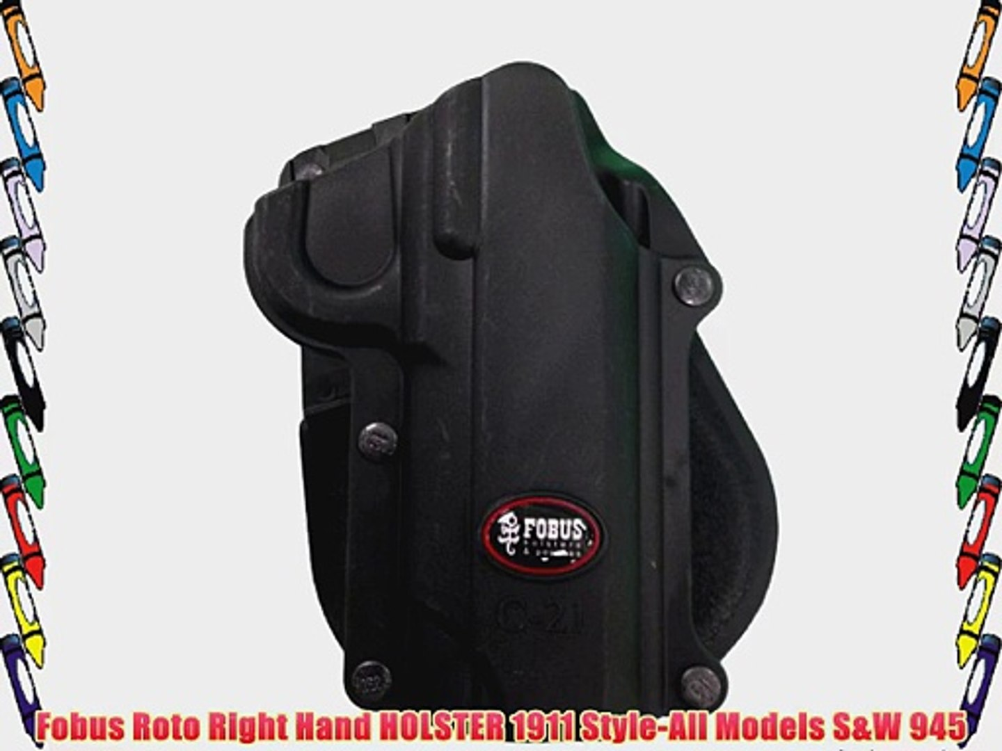 Fobus Roto Holster RH Paddle C21RP 1911 Style-All Models / S