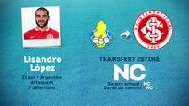 Officiel : Lisandro s'engage à l'Internacional Porto Alegre !
