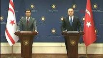 Mevlüt Çavuşoğlu, KKTC Dışişleri Bakanı Nami ile Ortak Basın Toplantısı Düzenledi 2