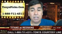 Washington Redskins vs. Tennessee Titans Free Pick Prediction NFL Pro Football Odds Preview 10-19-2014