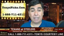 Pittsburgh Steelers vs. Houston Texans Free Pick Prediction NFL Pro Football Odds Preview 10-20-2014