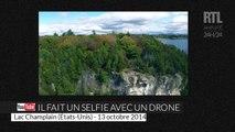 Il se prend en selfie avec un drone au bord du lac Champlain