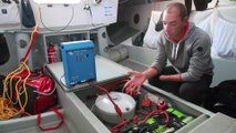 A bord du Class 40 ERDF - Des pieds et des mains, avec Damien Seguin