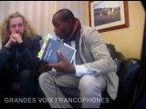 Aurélien Dony sur les Grandes Voix Francophones avec Amine Laourou au 30e festival international de la poésie de Trois-Rivières.