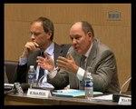 Table ronde sur la crise financière internationale, avec MM. René Ricol, auteur d'un rapport sur la crise financière, Michel Aglietta et Jean Tirole, économistes - Jeudi 9 Octobre 2008