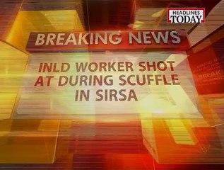 INLD  worker gets shot in Sirsa