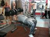 Как накачать грудь - №4. Жим 60 на 8, incline Dumbell bench press 140 lbs (60 kg)