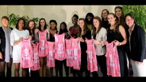 Arras: présentation de l'équipe féminine de basket d'Arras pays d'Artois saison 2014-2015