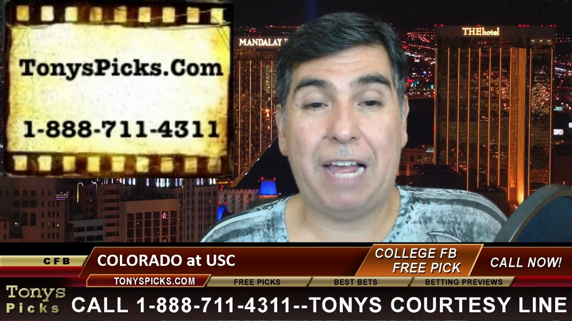 USC Trojans vs. Colorado Buffaloes Free Pick Prediction NCAA College Football Odds Preview 10-18-201