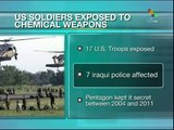 US soldiers exposed to chemical weapons in Iraq