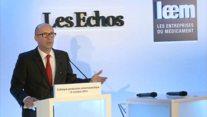 Introduction Colloque Production par Patrick Errard, président du Leem le 14/10/2014