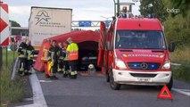 Un automobiliste percute un camion à l'arrêt sur un parking de l'E17 et se tue