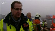 Plus de 40 véhicules impliqués dans un accident mortel à Zonnebeke