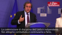 """Tavecchio, Platini (Uefa): """"Sentenza soft? Non sta a me decidere. Ha deciso una commissione"""" - Il Fatto Quotidiano"""