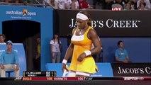 Serena Williams v. Justine Henin  2010 Australian Open Highlights (HD)