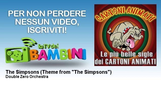 """Double Zero Orchestra - The Simpsons - Theme from """"The Simpsons"""""""