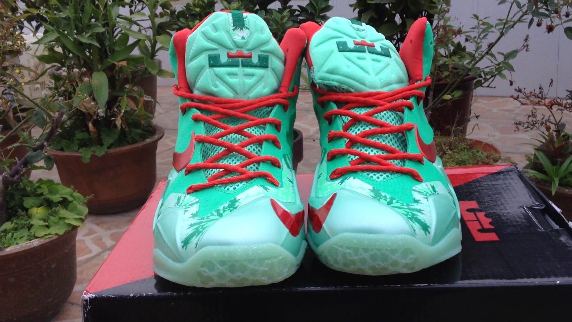 Cheap Lebron Shoes-Nike Lebron 11 Red Green Basketball Shoe Review Shopmallcn.ru