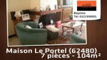 A vendre - maison - Le Portel (62480) - 7 pièces - 104m²