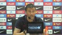 8e j. - Le Barça en échauffement avec la C1