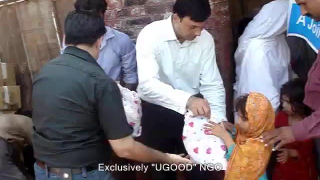 UGOOD distribution of -EID GIFTS- among children in Flood affected area.