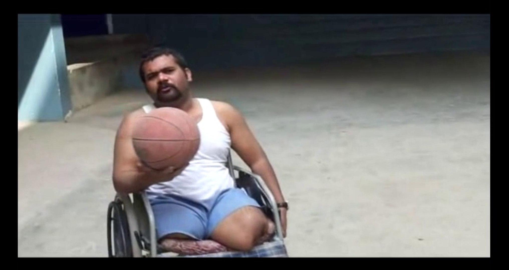 Double Amputee David: I'm playing basketball