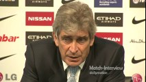 Manuel Pellegrini  praises Aguero - Post Match Interview - Manchester City 4-1 Tottenham