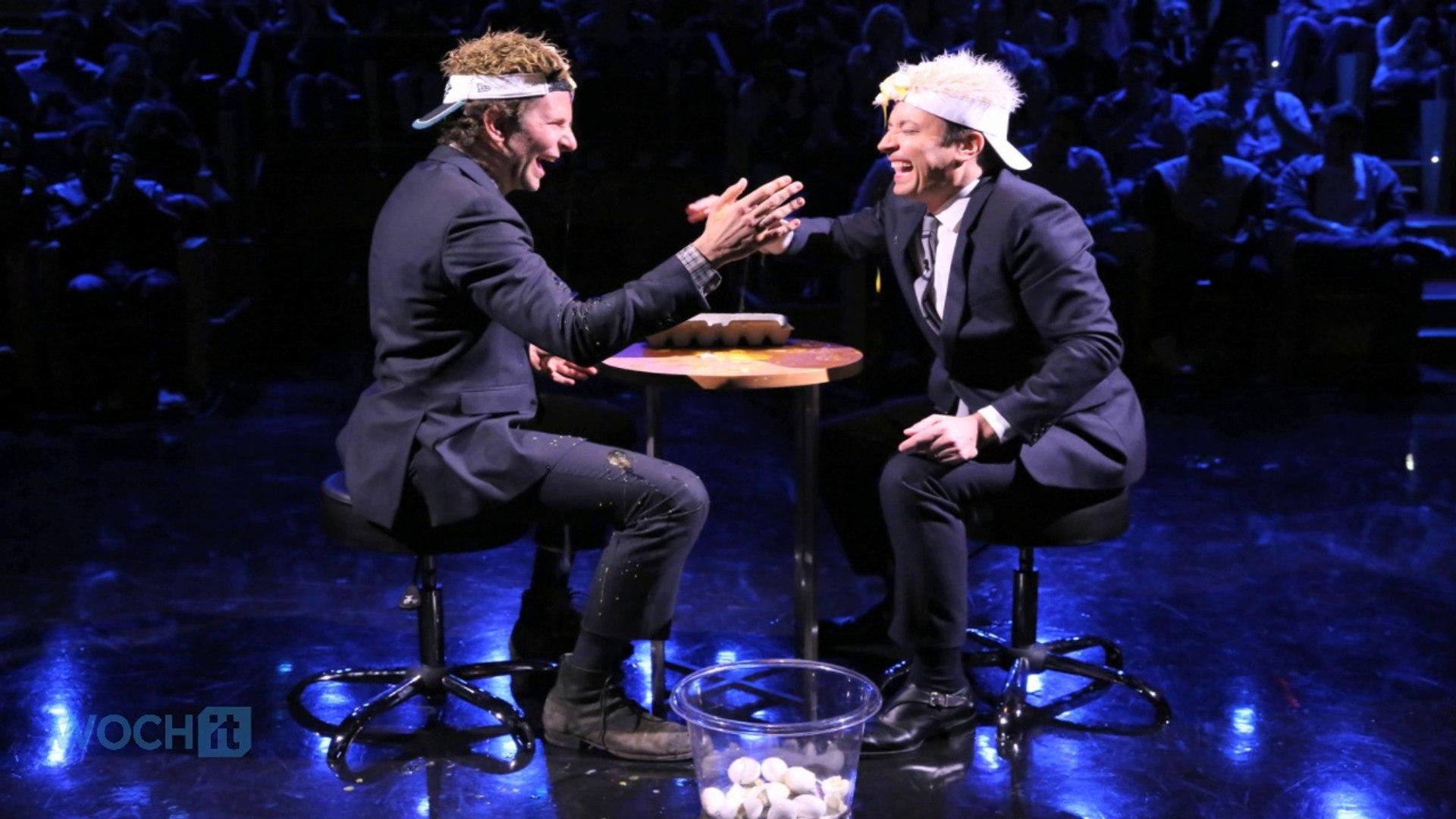 Bradley Cooper Smashing Eggs On His Head Is Jimmy Fallon's