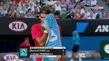 Australian Open 2012 R4 - Federer vs Tomic HD 1080p highlights