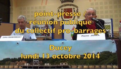 point-presse du collectif pro-barrages sur la Sélune - 13 oct 2014