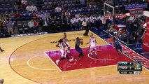 Kemba Leads Kidd-Gilchrist With Behind the Back Pass and Slam!