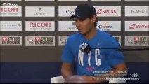 Rafael Nadal's pre-tournament press conference at Swiss Indoors Basel. Oct. 19, 2014 (in German)
