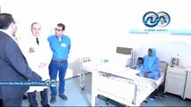رئيس جامعة المنصورة يتفقد مركز جراحة المسالك البولية وفندق الجامعة