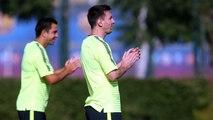 Training session (20/10/2014). Champions League training session