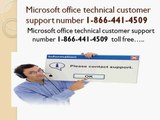 1-855-233-7309 Microsoft office technical customer support number
