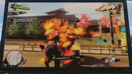 Sunset Overdrive : Sunset TV in-game message de Sunset Overdrive