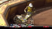 Coventry rider takes out his own teammate in Speedway Elite League Grand Final.