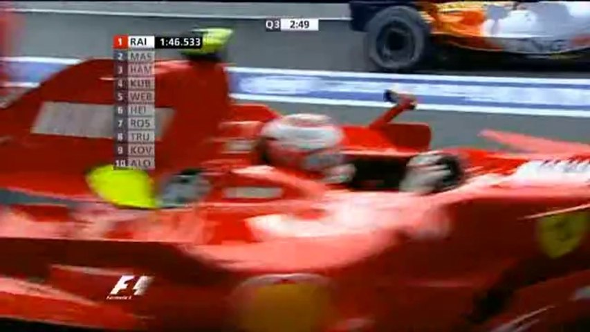 F1 2007 GP14 BELGIUM Spa Qualifying ITV