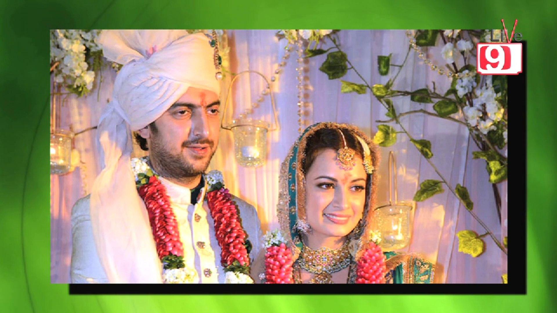 Dia Mirza Ties The Knot With Sahil Sangha - Dia Mirza Wedding
