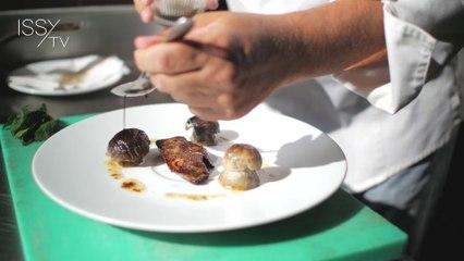 Recette de chef d'Issy : foie gras poêlé aux cèpes et persil plat