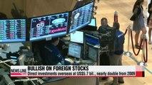 Korean investors bullish on foreign stocks