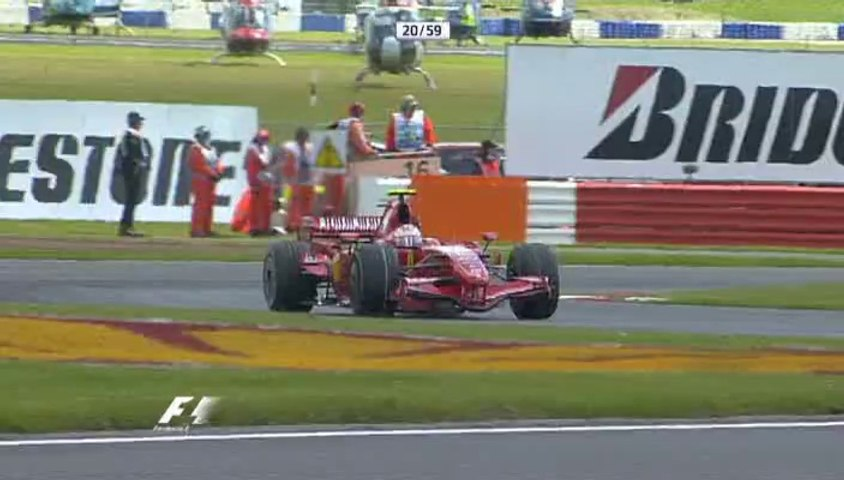 F1 2007 GP09 GB Silverstone Race ITV